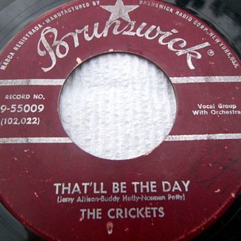 "1957 The Crickets ""That'll Be The Day"" 45rpm b/w ""I'm looking for Someone to Love"" - Records"