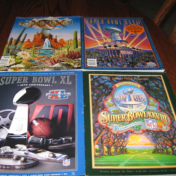 Super Bowl Programs - Football