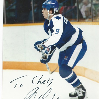 "Russ Courtnall #9""Sign Card"" - Hockey"