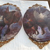 2 Antique Duck or Geese Oil Painting on Wood