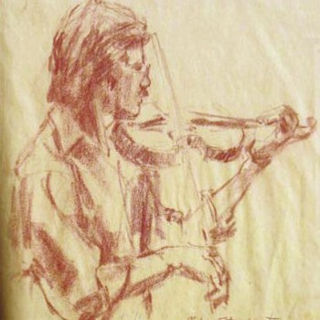 "Fouche Bolton Pastel on Paper 1978 ""Mike Stewart"""