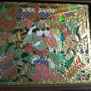 "Antique chinese Gold Leaf Paintings, circa 1899, ""TONG TAI,etc"" Please Help ID!!"