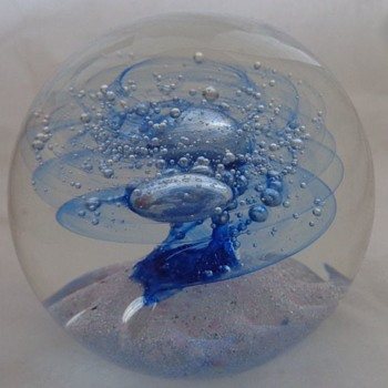Selkirk 'Ice Spiral' Paperweight 1985 - Art Glass