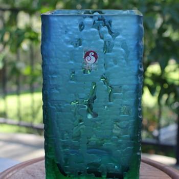 Sasaki textured glass vase