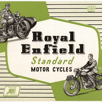 1953 Royal Enfield Motorcycles REG350 / REJ2
