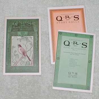 1923 Q.R.S. Playasax Rolls Catalog - Paper