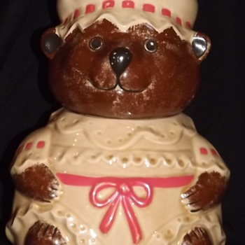 Franklin Porcelain Bear Cookie Jar?