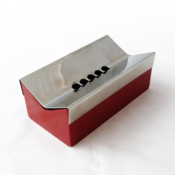 5B ashtray in stainless steel and melamine, Carla Nencioni and Armando Moleri (Zani & Zani, 1970s)