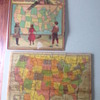 Milton Bradley  Dissected Map of the United States wooden puzzle