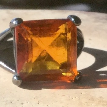 Orange stone ring. Vintage or junk? - Costume Jewelry