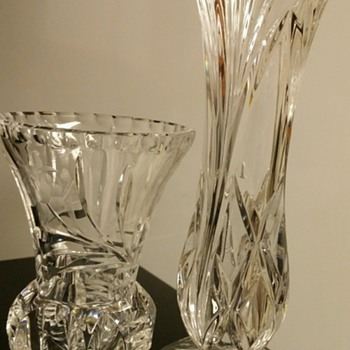 Crystal vases that I just love.