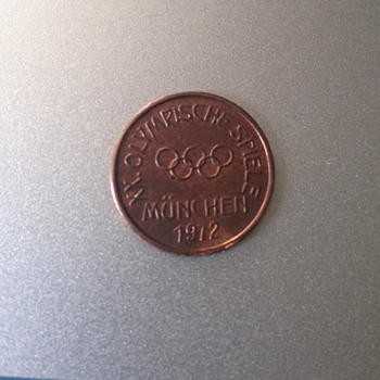 Rare Olympic Coin from 1972 Munchen,number index of 92
