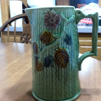 George Morleys syrup pitcher - 1880's - Art Pottery