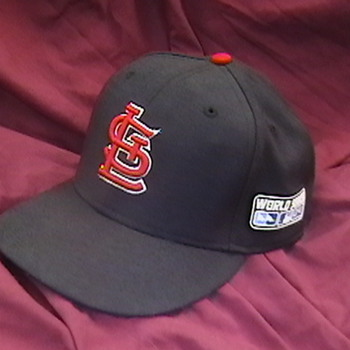 2004 Albert Pujols Game Worn World Series Cap - Baseball