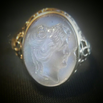 Moonstone Cameo ring.