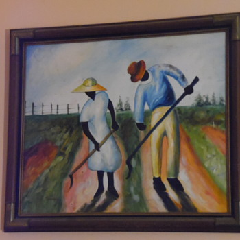Vintage African American Painting,Signed - Visual Art