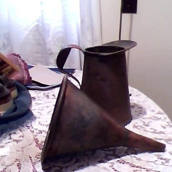 copper pitcher w/ funnel