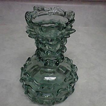 RUFFLED GLASS VASE - Art Glass