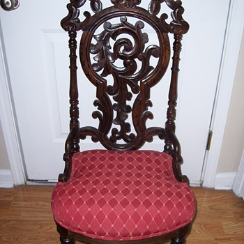 1920 Rosewood Carved Chair - Furniture