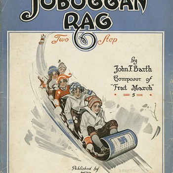 "SHEET MUSIC, 1912, ""TOBOGGAN RAG"" JOHN BARTH, PUB. IN OHIO - Music"