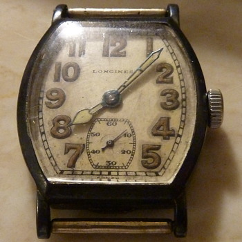 1922 Longines Sterling silver Mens wrist Watch 15 Jewels - Wristwatches