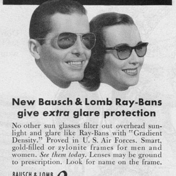 1951 - Ray-Ban Sunglasses Advertisement - Advertising