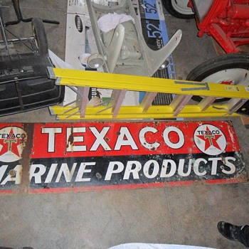 Texaco Marine Products Sign - Signs