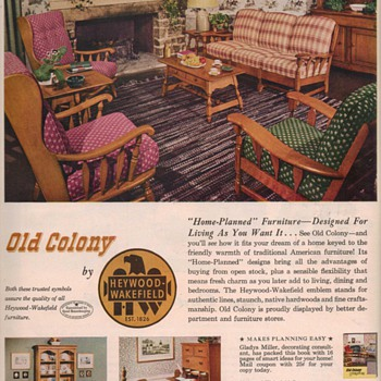 1950 Heywood Furniture Advertisements - Advertising