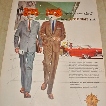 "Clipper Craft ""You're a 'man alive' in a Clipper Craft suit"" Magazine Ad - Advertising"