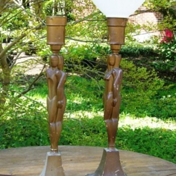 Pair of deco table lamps...