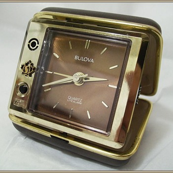 Bulova Travel Alarm Clock ( in Case )