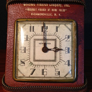 Deco Advertising Travel Clock - Art Deco
