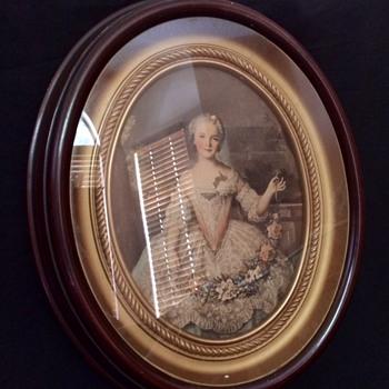 J. A. Olson Painting of Marie Antoinette - Victorian Era