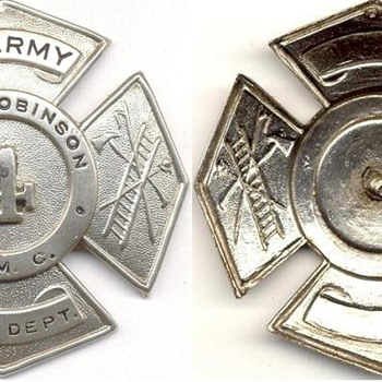 Camp Robinson Fireman's Hat Badge