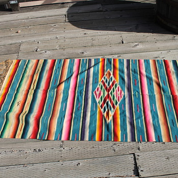 Textile Mexican Serape Blanket 