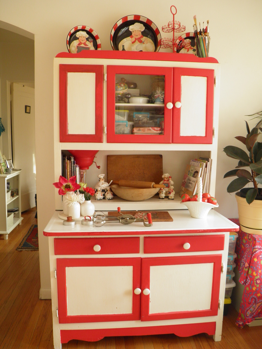 Hoosier Cabinet In Furniture Cabinets Show Tell And Kitchen
