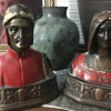 Antique Dante and Beatrice bookends