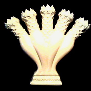 "J. Palin Thorley ""Posey Holder"" Vase/Reproduction of English Creamware for ""Colonial Williamsburg""/ Circa 20th Century"