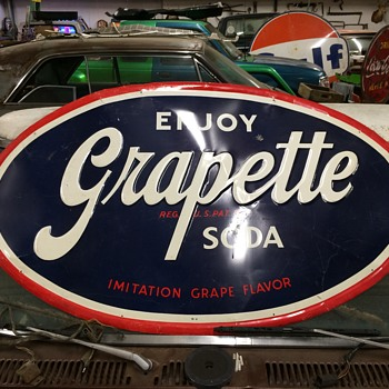 grapette soda sign - Advertising