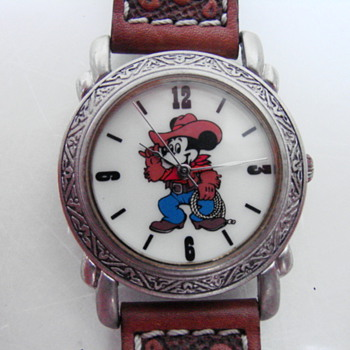 Western Mickey (Cowboy) Wristwatch - Wristwatches