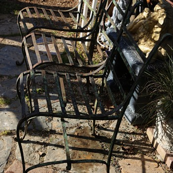 Antique Garden Chairs for the Oakland Fencing Club - Furniture