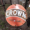 Crown Oil & Gas Porcelain Sign