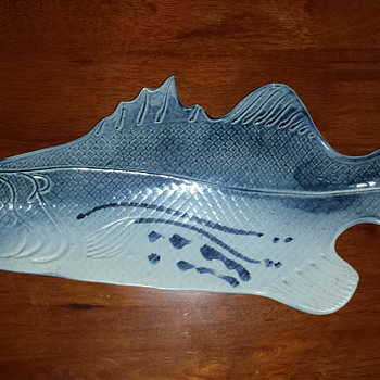 Bass Fish Tray - Pottery