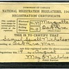 1940 Registration certificate