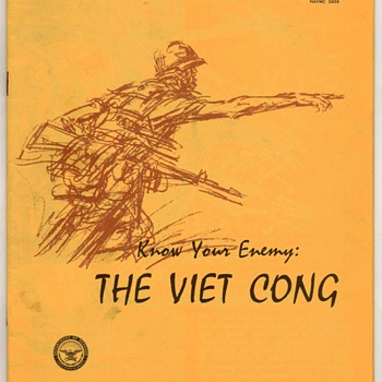 "1966 - Dept. of Defense Pamphlet - ""The Viet Cong"" - Paper"