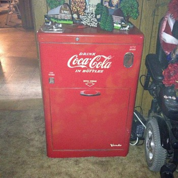My dad's favorite Coca Cola Machine