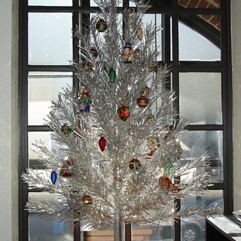 my Evergleam aluminum Christmas tree on display in my office.