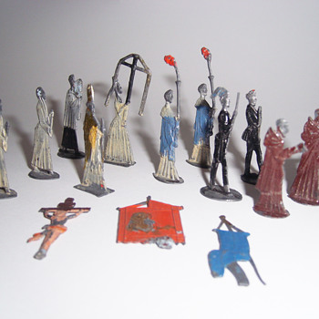 Vintage Lead Catholic Figures