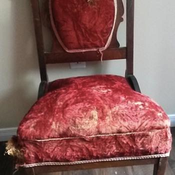 Red  Velvet Straw Bottom Chair - Furniture
