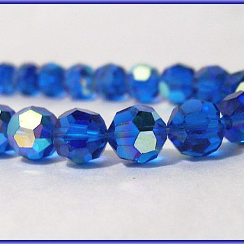 Aurora Borealis --Blue Glass Crystals ( # 3 ) - Costume Jewelry